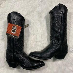 🌟 Dan Post Teju Lizard Cowboy Boots AMAZING 🌟